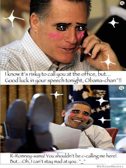 This Was My Favorite Meme Obama And Romney Depicted As Extremely