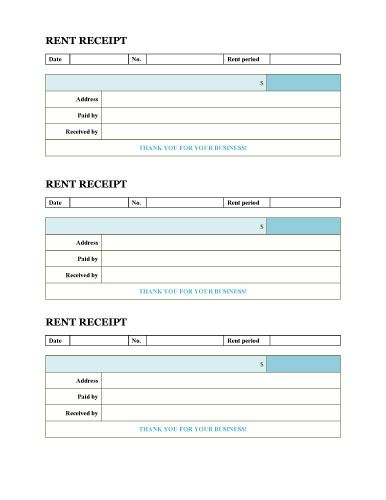 Free Rent Receipt Templates For Word And Excel Hloom Com Receipt Template Invoice Template Invoice Template Word