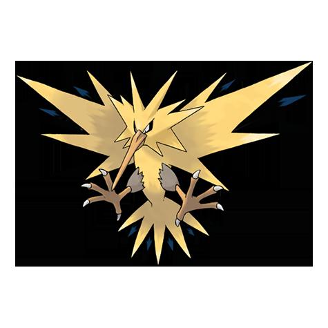 Zapdos es un Pokémon pájaro legendario que tiene la habilidad de ...