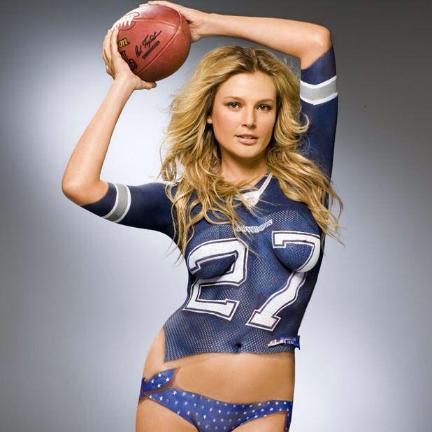 Bridgette Hall Si Body Paint Dallas Cowboys Gridiron