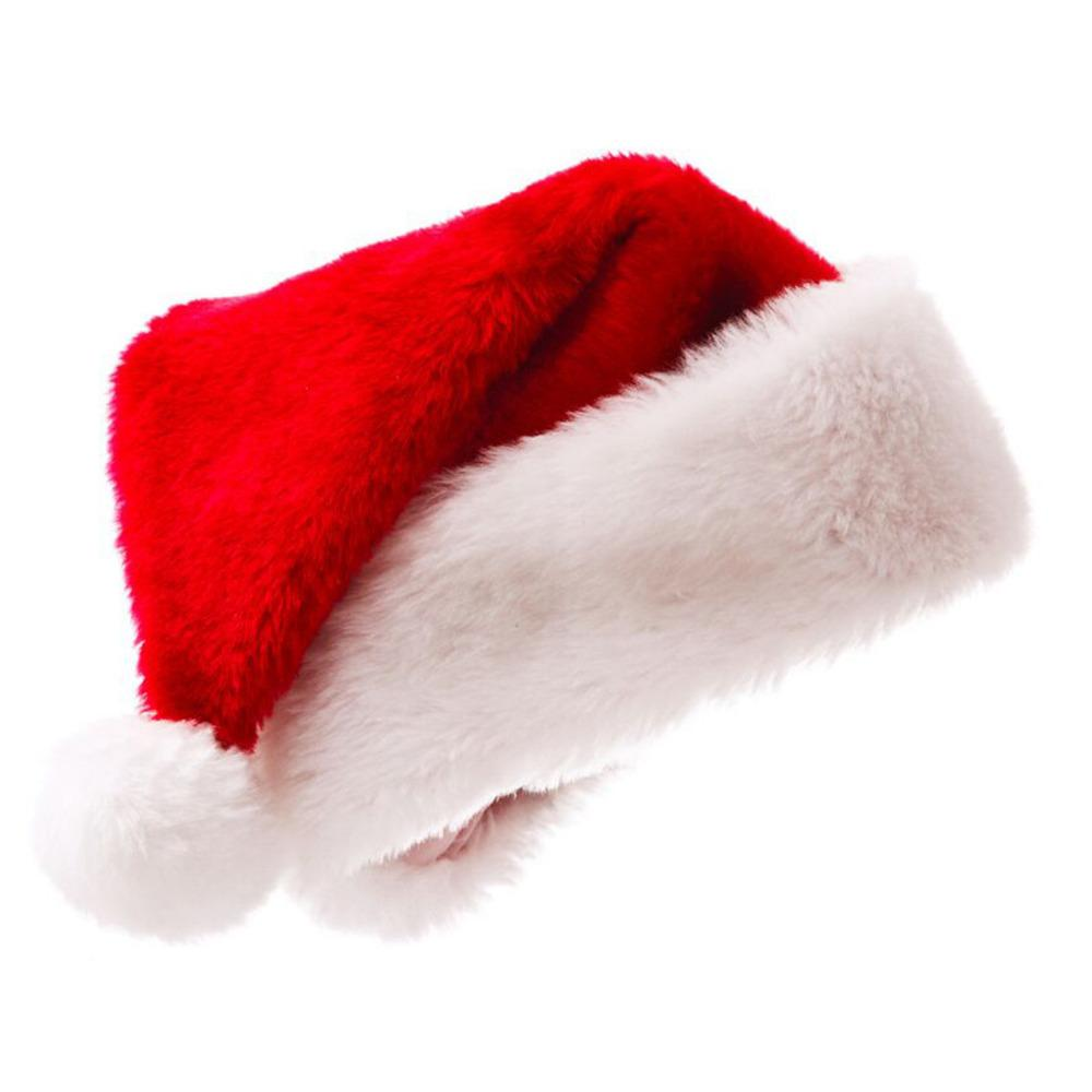 f9a717b7f10 New years Christmas Party Santa Hats Red And White Cap Christmas Hat For Santa  Claus Costume