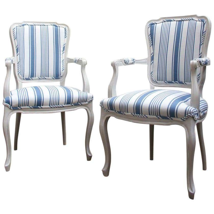 Best 1960S Blue And White Striped Vintage Armchairs For Sale At 400 x 300
