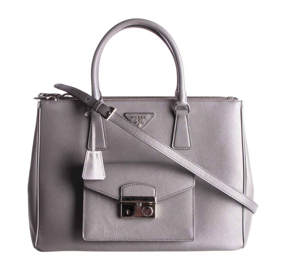 4767af2571bc PRADA Gray Saffiano Galleria Front Pocket Tote Bag #fashion #clothing #shoes  #accessories #womensbagshandbags (ebay link)