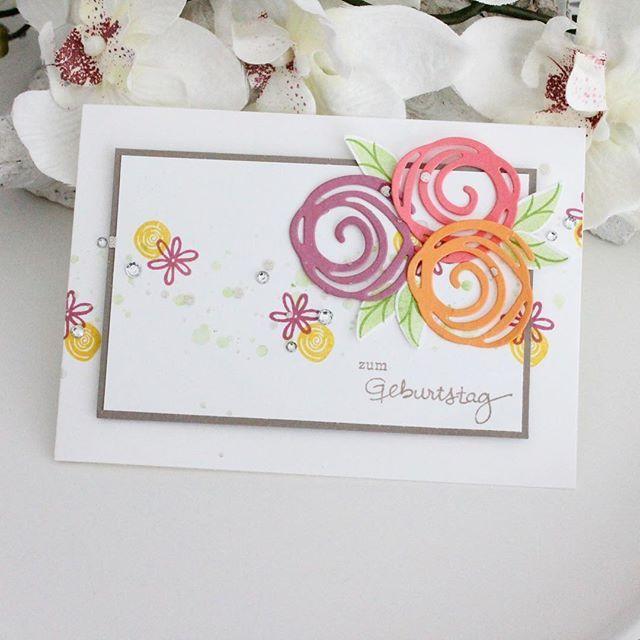 Geburtstagskarte in zarten Pastel Farben 💞 Ich liebe die Swirly ...