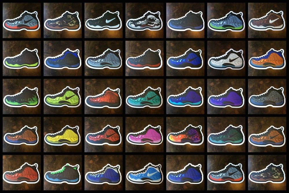 new arrival 02fb2 bace7 Dope Foamposite Stickers Pack