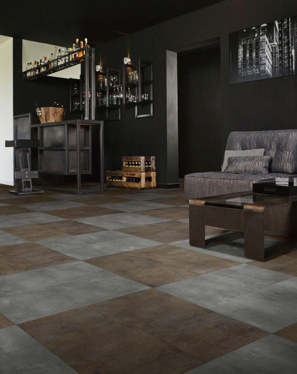 steel rock stone effect luxury vinyl flooring moduleo op