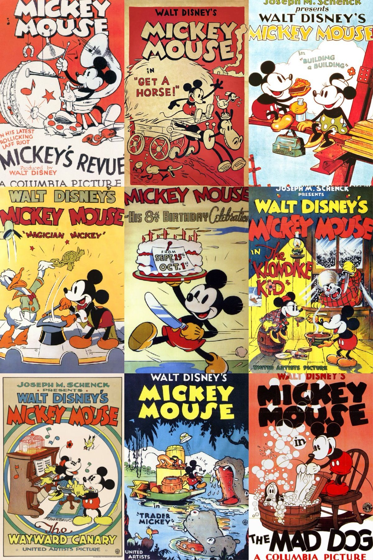 Vintage Mickey Mouse Posters Mickey Mouse Cartoon