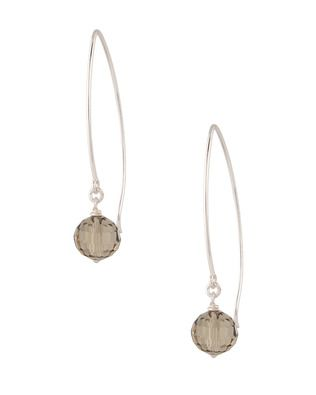 925 Sterling Silver,Green Crystal Drop Earrings | Rs. 800 | http://voylla.com