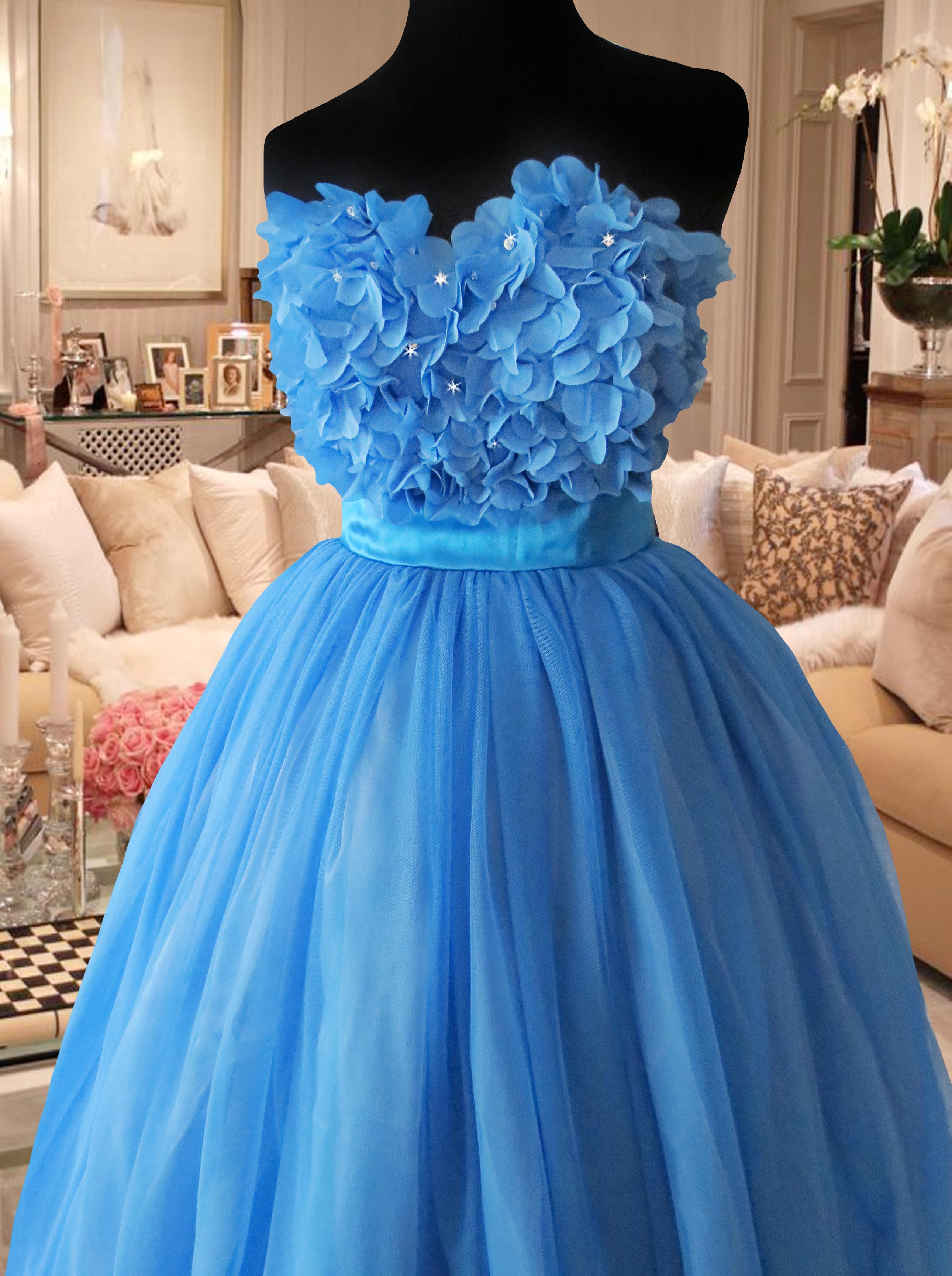 Blue ball gown for rent Php2,000. www.gownforent.com Debut, flores ...