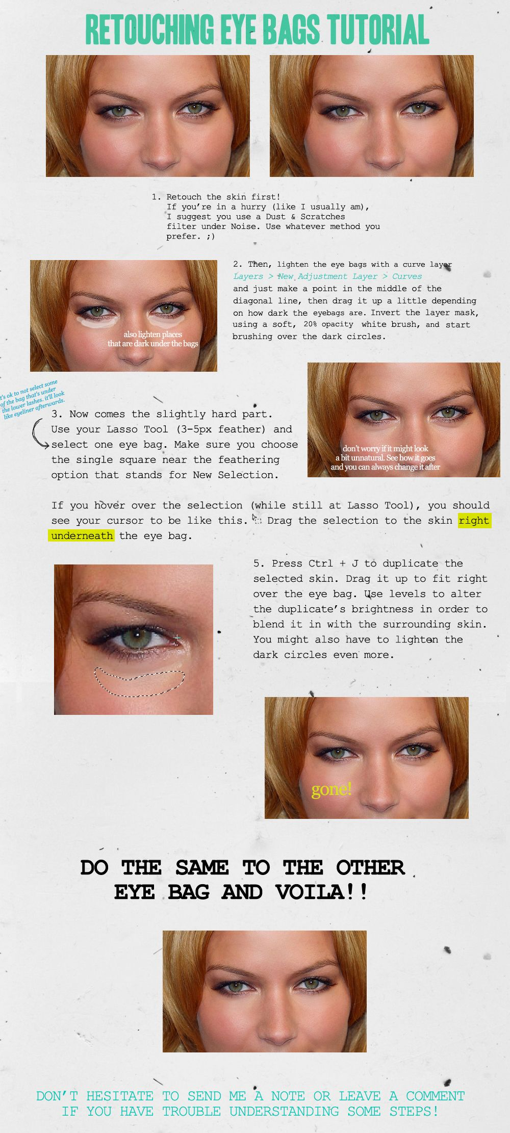 Retouching Eye Bags | Photo