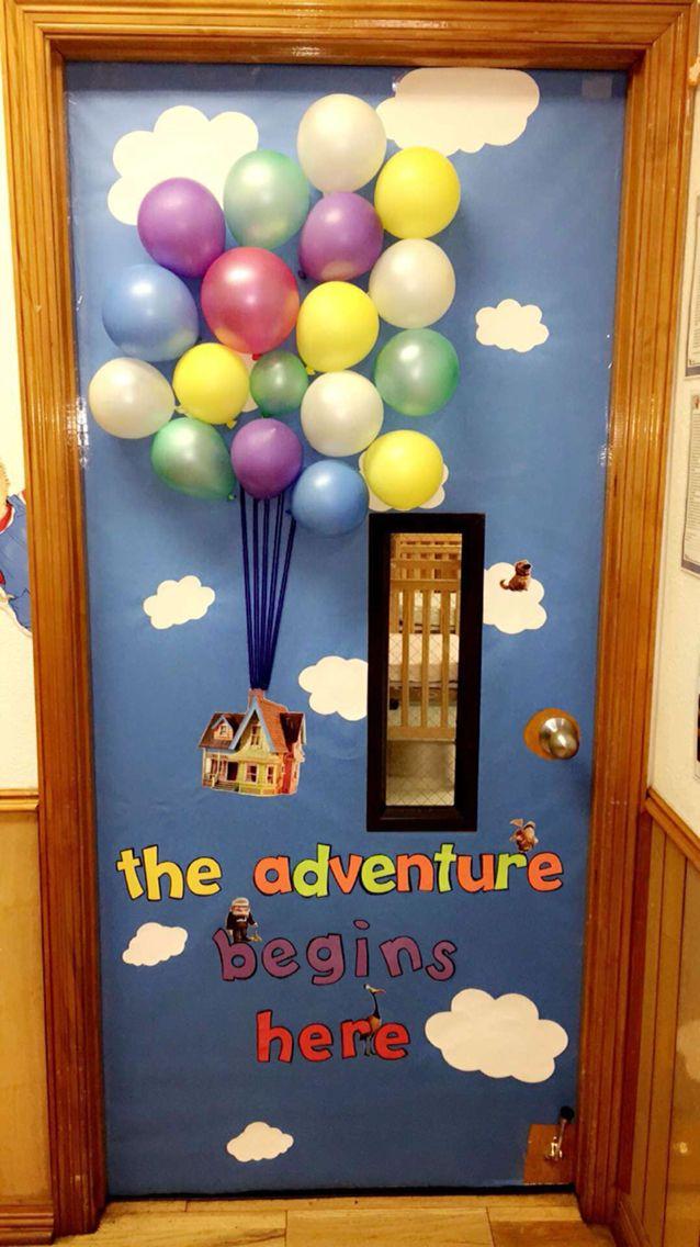 Up door decor | Door decor | Pinterest | Aula, De puerta y ...