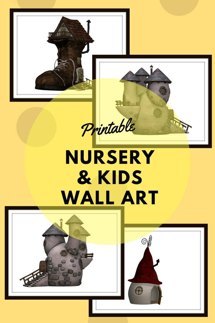 Fairytale houses Prints. Kids wall art, kids bedroom wall art, kids ...
