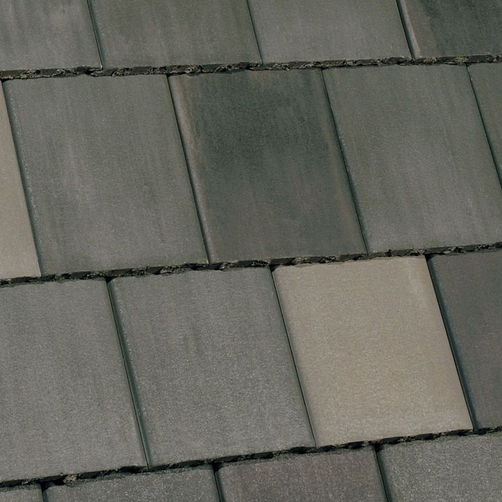 flat roof tile concrete colored