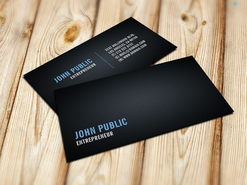 Black Business Card with Diamond Tile Pattern by J32 Design ...