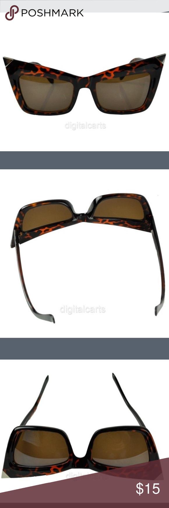 Designer  Cat Eye Sunglasses 100% Brand New Weight: 31.2g Leopard Print Size: 15 x 5(LxW) cm Accessories Sunglasses