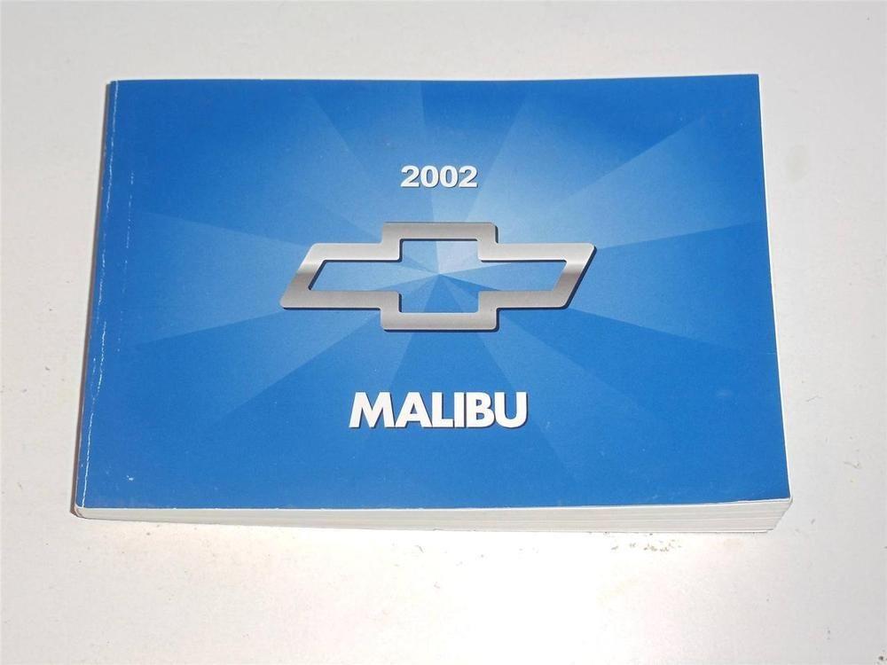 2002 Chevrolet Malibu Owners Manual Book Chevrolet Malibu Owners Manuals Chevrolet