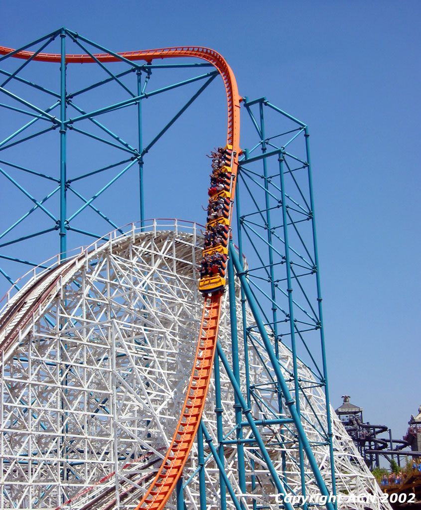 Six Flags Magic Mountain Goliath Google Search Roller Coaster Roller Coaster Ride Thrill Ride