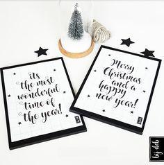 bijdeb: Free printables A4 Kerst posters...