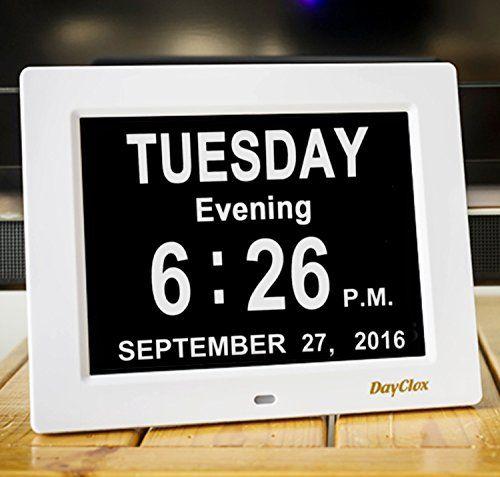 Dayclox Updated Original Memory Loss Digital Calendar Day Clock