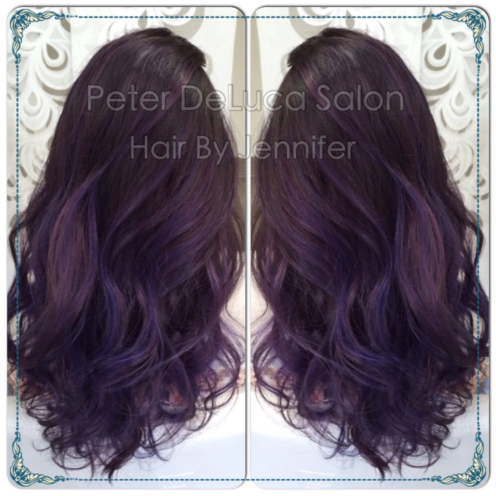 Purp hair! By: Jennifer www.peterdelucasalon.com Facebook: Peter DeLuca Salon Instagram: Peter Deluca Salon