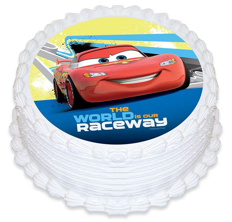 Edible Cake Images Disney Cars : Disney Cars The World Is Our Raceway Edible Cake Image ...