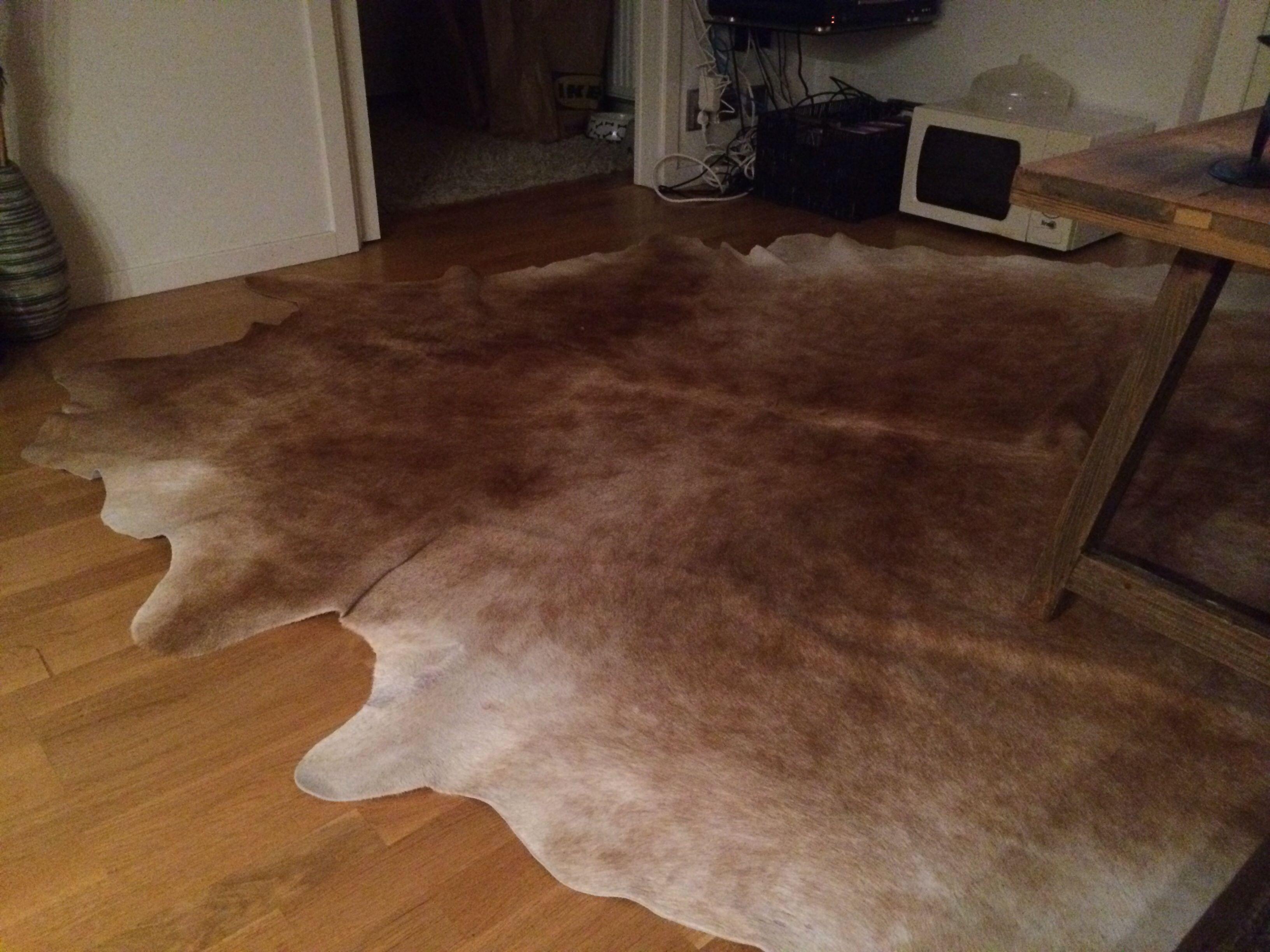 Stor koskinn matta inhandlad på blocket. fick även med mig ett ...