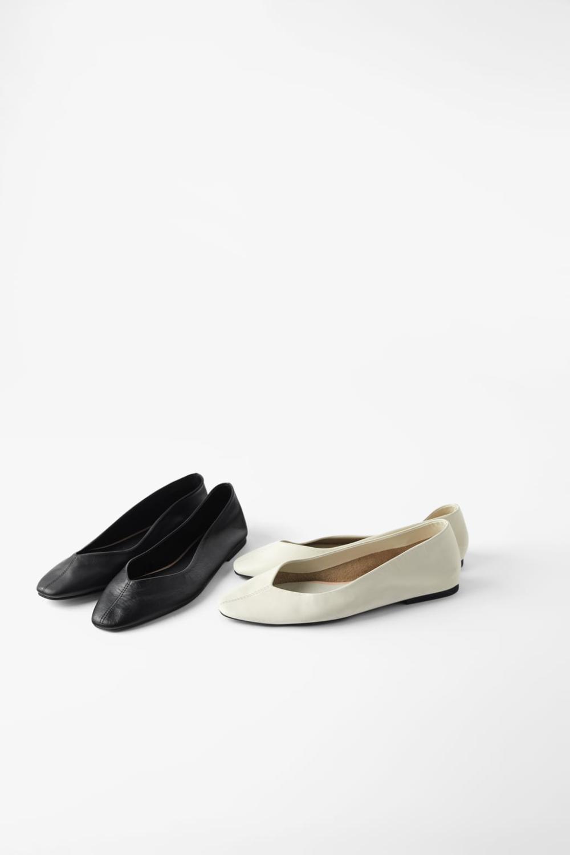 Miekkie Skorzane Balerinki Buty Kobieta Shoes Bags Zara Polska Leather Ballet Flats Work Shoes Women Flat Shoes Women