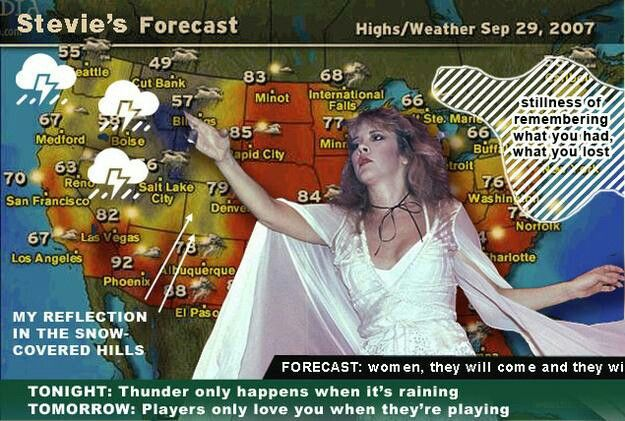 Stevie S Weather Forecast Stevie Nicks Stevie Stevie Nicks Fleetwood Mac