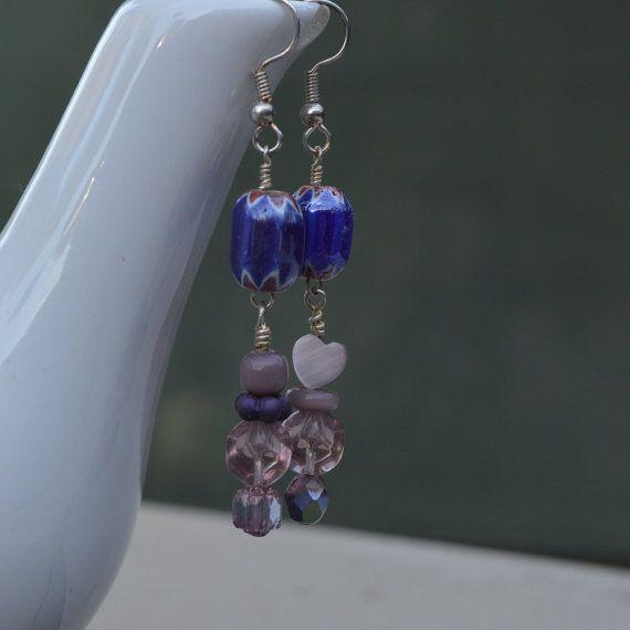 Handmade Blue Chervon Purple Mismatched by dwhitecreations on Etsy