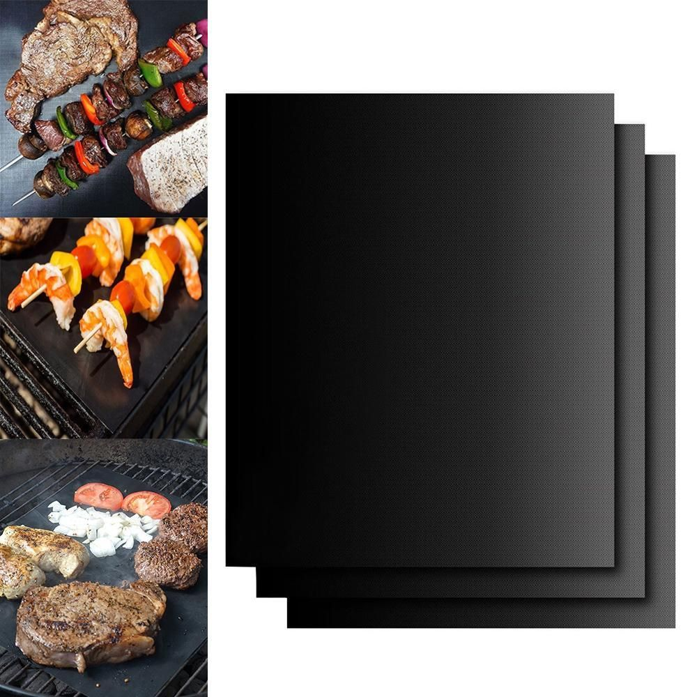 3 Piece Grill Mat Bbq Grill Barbecue Grill Barbecue