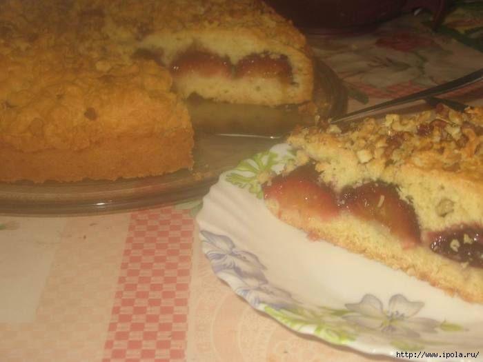 тертый пирог со сливами рецепт с фото можете заказать