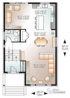 plan maison terrain etroit
