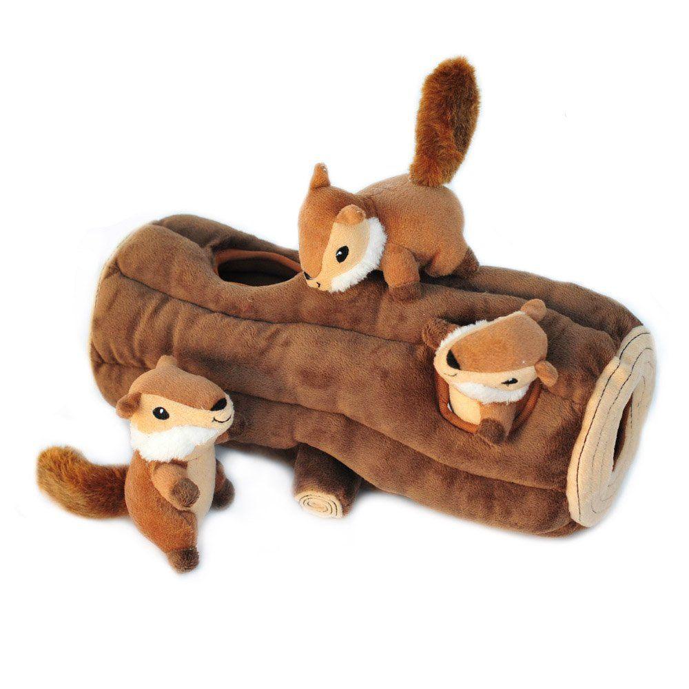 Pet Supplies Pet Squeak Toys Zippypaws X Large Burrow Log And