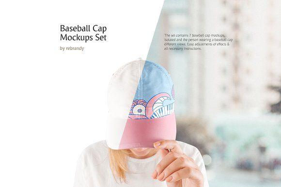 b8c837224c2 Baseball Cap Mockups Set by rebrandy on  creativemarket  graphicdesign  art   design