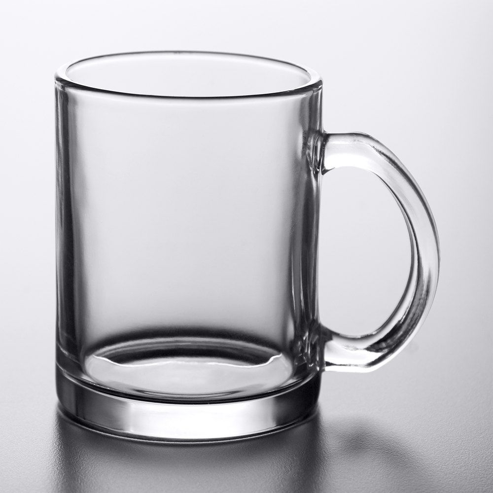 Acopa 12 oz clear glass coffee mug 12case with images