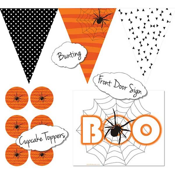 Free Halloween Printables Kit  Caboodle Parties London - free halloween decorations printable