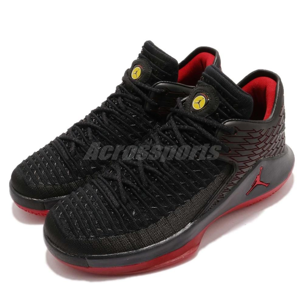 online store 4e089 1c12b Nike Air Jordan XXXII Low BG Last Shot 32 Black Red Youth Basketball  AA1257-003