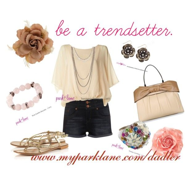 If you're wearing fitted shorts or pants, your top should be loose.  Always love neutral colors!