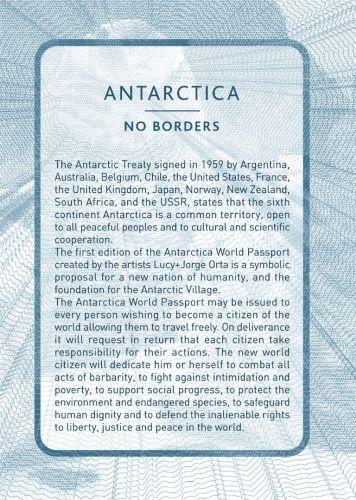 L'Antarctique, la seule région que nul pays ne revendique et est politiquement neutre. Le Traité Antarctique, qui, aujourd'hui compte 50 nations signataires, a préservé l'Antarctique comme zone dévolue à la recherche scientifique, avec des buts pacifiques communs pour protéger l'environnement et encourager la coopération internationale.