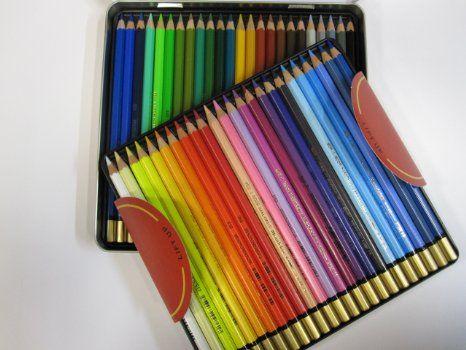 Koh I Noor Lot De 48 Crayons Aquarellables Mondeluz Dans Etui En