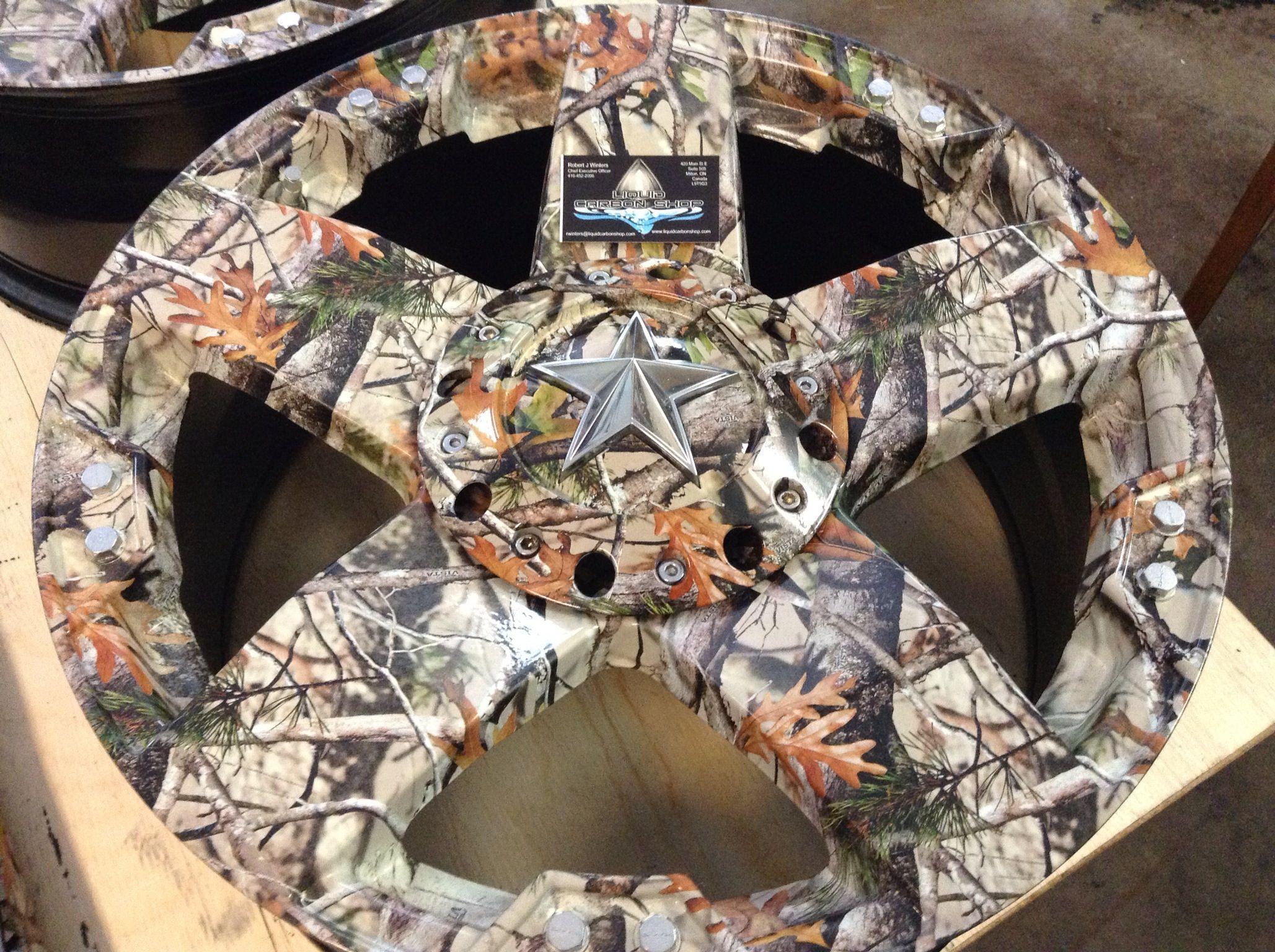 Rock Star Wheels In Vista Camo By Liquid Carbon Shop