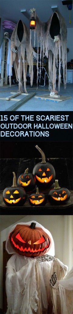 15 of the Scariest Outdoor Halloween Decorations Holiday fun - how to make halloween decorations for yard