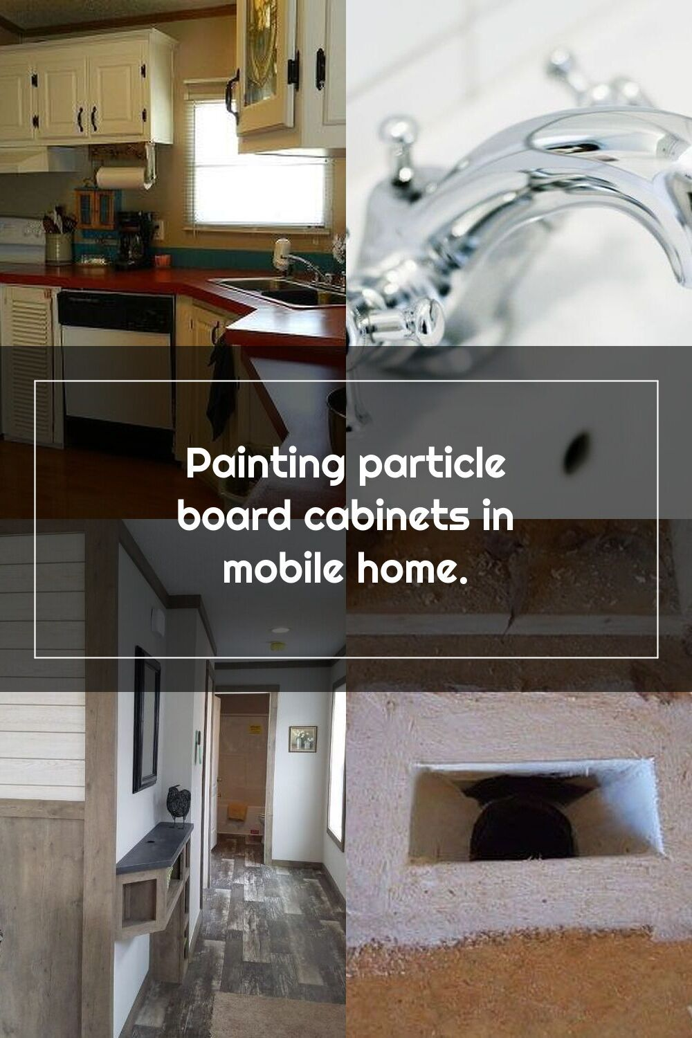 Painting Particle Board Cabinets In Mobile Home Hometalk In 2020 Mobile Home Bathrooms Mobile Home Particle Board