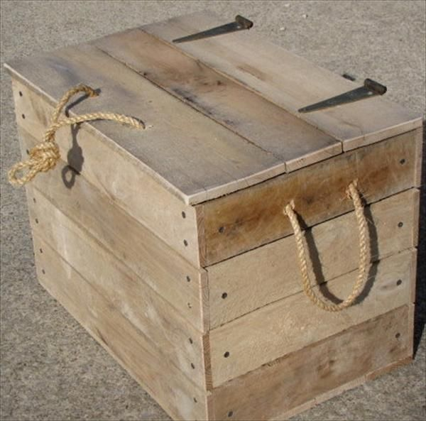 Diy cool pallet box storage pallet furniture plans for How to make furniture out of wood pallets
