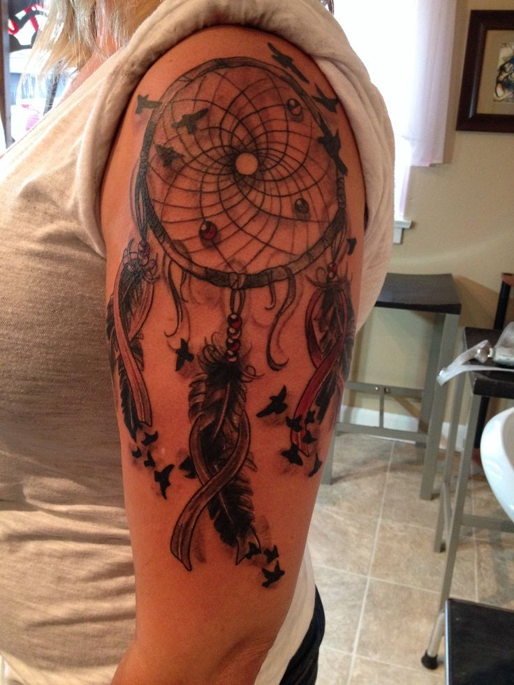 Breast Cancer Dream Catcher Tattoo windcatcher tattoos Google Search Tattoo corner Pinterest 3