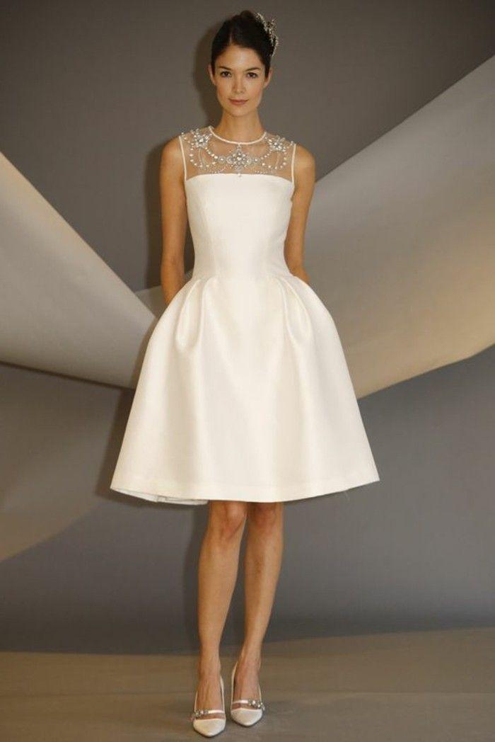 Modele robe de mariage courte