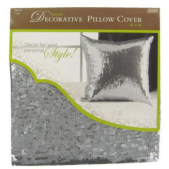 Silver Sequin Pillow Cover Must Haves Pinterest Decorative Enchanting Silver Sequin Decorative Pillow