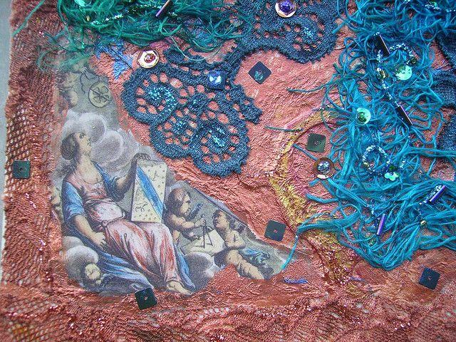 Detail Angel at work 2 by Karen Cattoire, via Flickr
