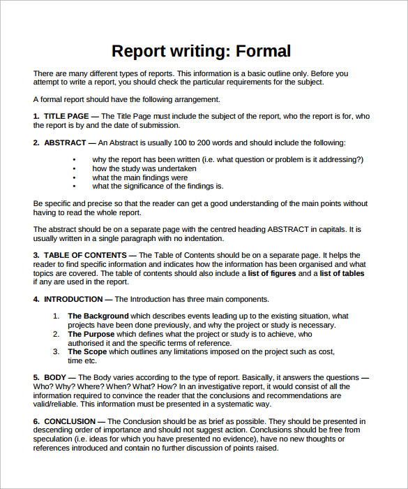 Report Writing Template Download 1 Templates Example Templates Example Report Writing Format Persuasive Writing Examples Report Writing
