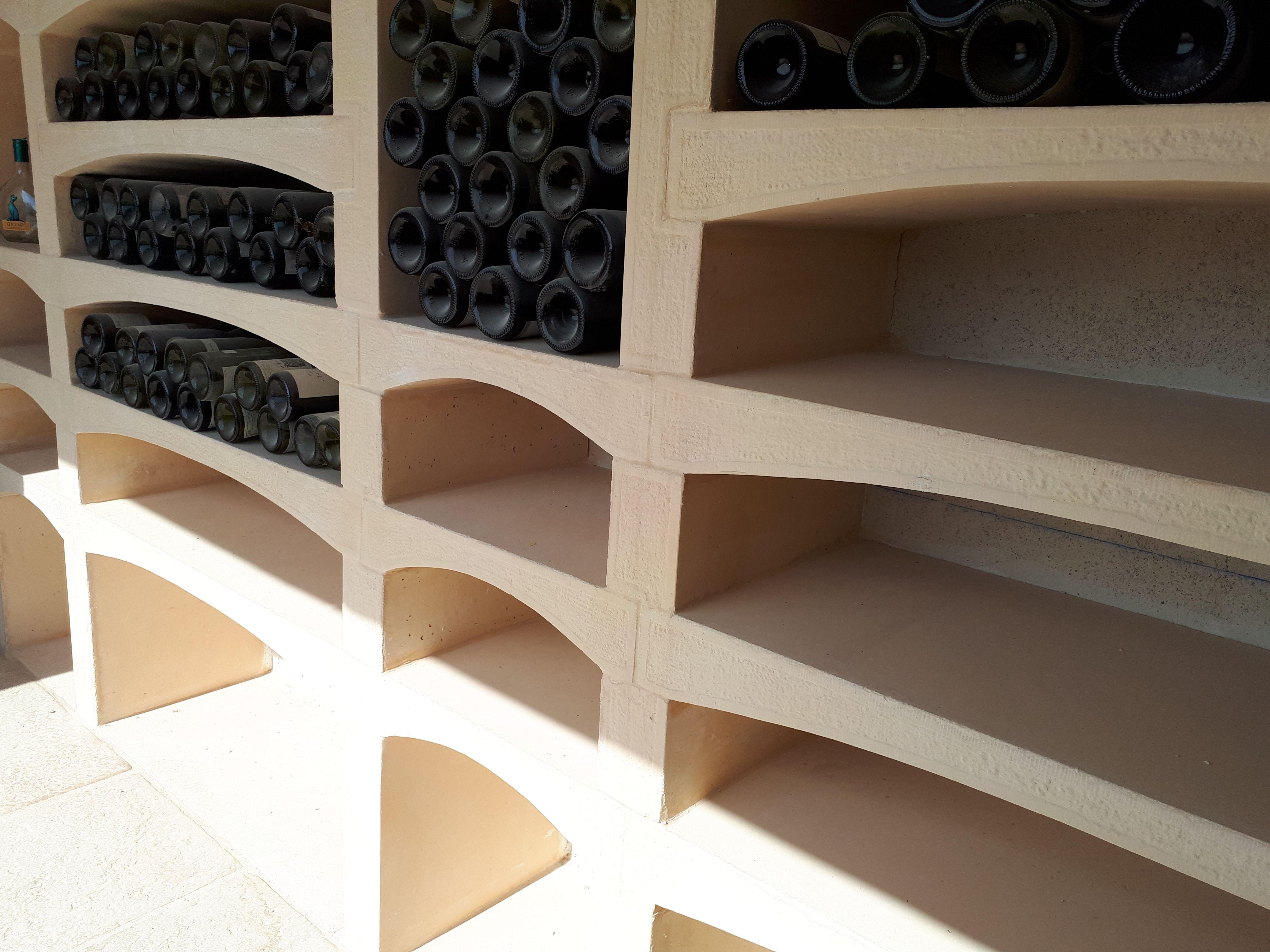 Range Bouteilles En Beton Decoratif Moule Amenagement De Cave A